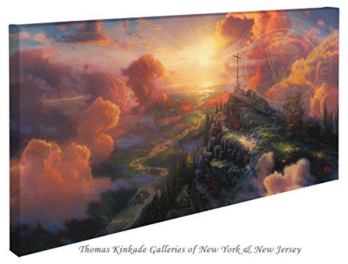 The Cross - Thomas Kinkade 16'' X 31'' Gallery Wrapped Canvas by Thomas Kinkade wrapped canvas