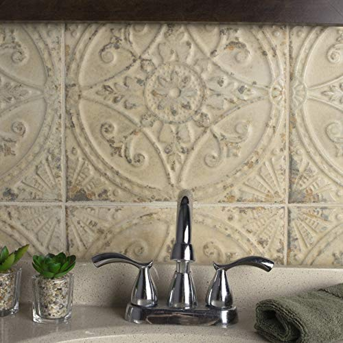 SomerTile FPESAJB Murcia Ceramic Floor and Wall Tile, 13'' x 13'', Blanco by SOMERTILE (Image #8)