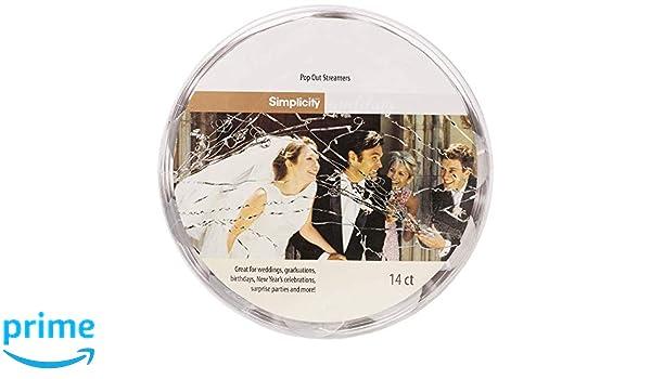 Amazon com: Simplicity Pop Out Wedding Send Off Streamer Tubes, 14