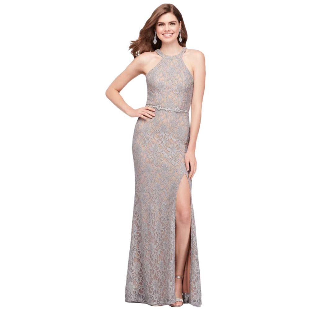 a5e2ae62 Davids Bridal Silver Sequin Dress | Saddha