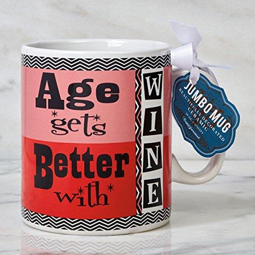Certified International Jumbo Mugs - Everyday Age Gets Better With Wine 30 oz