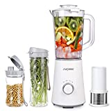 Cheap Personal Blender,Smoothie Blender Single Serve with 350W SURPEER,2 Portable Blender Bottle for Shakes and Smoothies,White