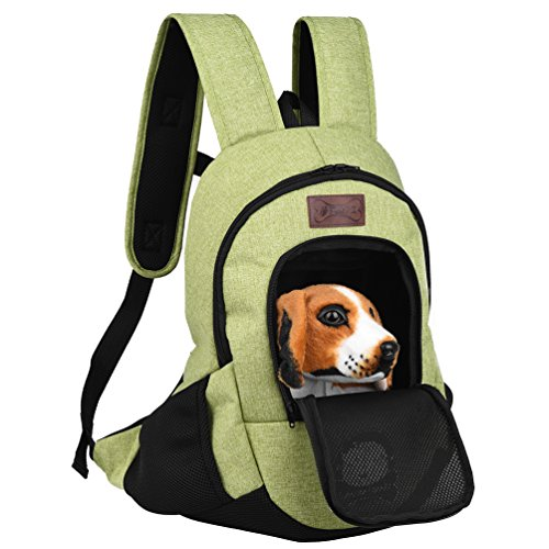 Petacc Pet Carrier Backpack Large Capacity Dog Carrier Puppy Travel Bag, Ideal for Pets under 6lb (Green)