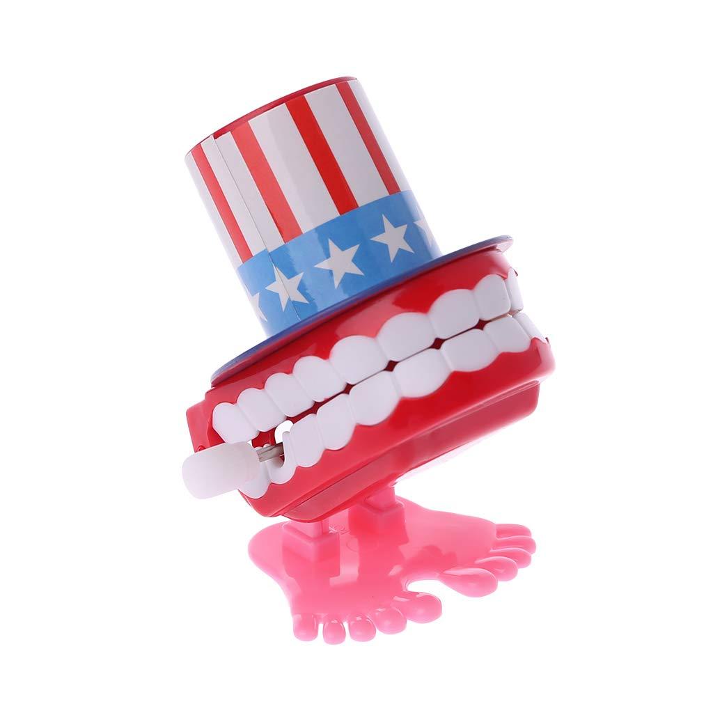 ZJL220 Clockwork Jumping Top Hat Dentiere Giocattoli educativi Dentista Desk Decor Prank Game