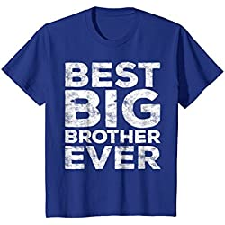 Kids Best Big Brother Ever T-Shirt Funny Gift 8 Royal Blue