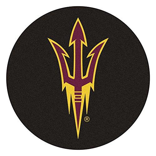 Arizona State Sun Devils Rug - Fan Mats Arizona State University Hockey Puck Area Rug