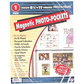 freez a frame magnetic 85 inch x 11 inch photo frame