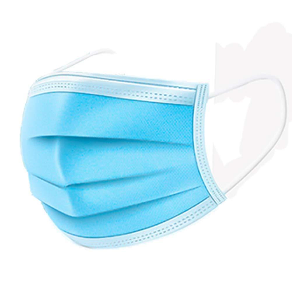 Mascarilla Facial desechable con trabilla elástica para la Oreja de 3 Capas, para médicos, Enfermeras y Pacientes