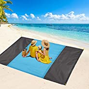 FAHZON Beach Blanket,Sandproof Waterproof Picnic Blanket,Sand Free Extra Large Oversized 9 ft X 7 ft Beach Mat
