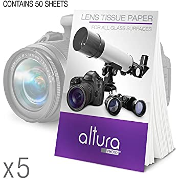 (250 Sheets/5 Booklets) - Altura Photo Lens Cleaning Tissue Paper + MagicFiber Microfiber Cleaning Cloth