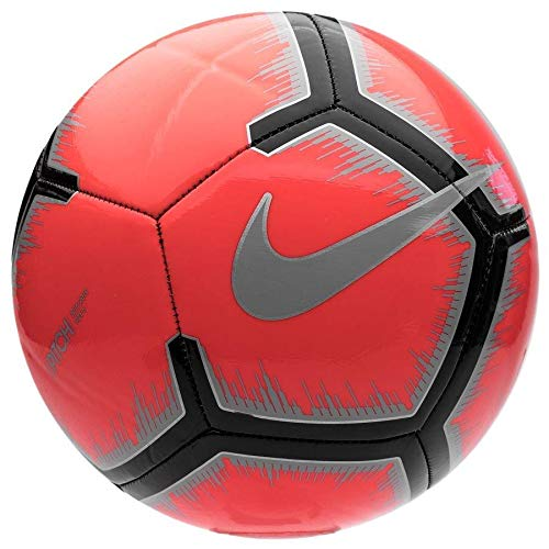 Nike Pitch Soccer Ball (Red/Silver/Black, 5) ()