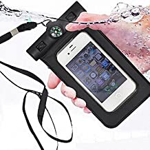 Compass Water Proof Diving Bag For iphone4 4s 5 5s Portable Outdoor WaterProof Pouch ( Color : Black )