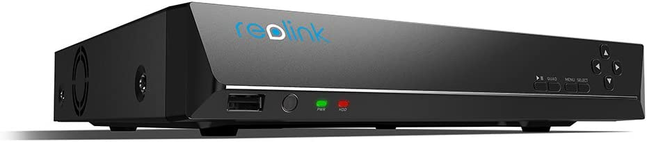 Reolink PoE NVR 8 Channel Home Security Camera System Network Video Recorder with 2TB Hard Drive Support 5MP 4MP 1080P 720P HD IP Camera RLN8-410