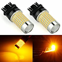 JDM ASTAR Extremely Bright 144-EX Chipsets 3056 3156 3157 4157 LED Bulbs with Projector , Amber Yellow