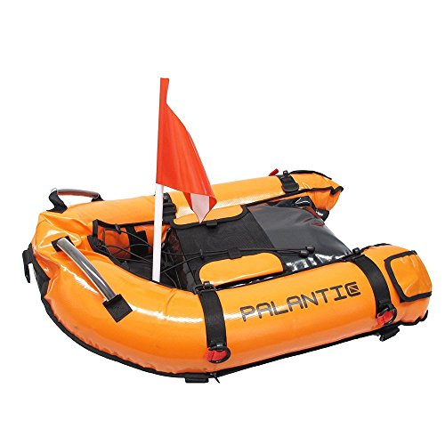 Palantic Scuba Diving Inflatable Gangway Float Boat with Dive Flag & Air (Inflatable Dive Float)