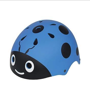 Amazon.es: LXLX Casco infantil Casco de mariquita Patinaje sobre ruedas Casco de bicicleta para niño (Color : Azul)