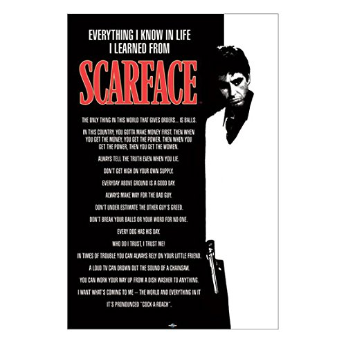 "Scarface Al Pacino as Tony Montana ""Everything I know in Life I Learned from Scarface"" 8 x 10 Inch Photo"