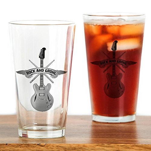CafePress ROCK GROHL Drinking Glass