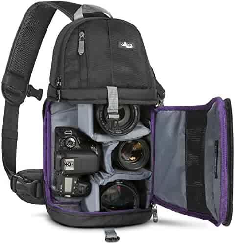 Altura Photo Camera Sling Backpack for DSLR and Mirrorless Cameras (Canon Nikon Sony Pentax)