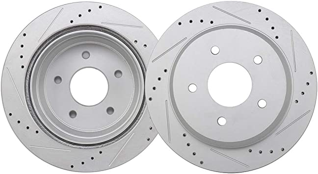 1998 1999 2000 GMC Sonoma 4WD OE Replacement Rotors Metallic Pads F+R