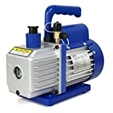 ZENY 3,5CFM Single-Stage 5 Pa Rotary Vane Economy Vacuum Pump 3 CFM 1/4HP Air Conditioner Refrigerant HVAC Air tool R410a 1/4 Flare Inlet Port, Blue