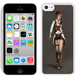 Fashionable Designed Cover Case For iPhone 5C With Steampunk Redhead Fantasy Mobile Wallpaper (2) Phone Case