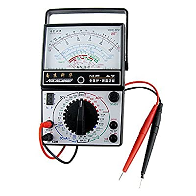 Water & Wood 0.25V-1000V AC Ohm Amp DC Volt Analog Multitester Multimeter
