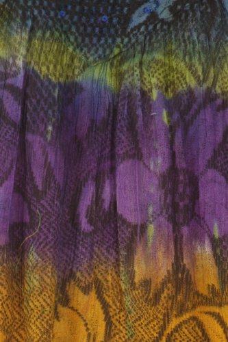 Marine Bleu and Multicolore Tie Paillettes Sans Chemisier Dye Floral Sakkas Manches wx1Xz6vCnq
