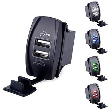 Alivier Zócalo Dual del Cargador del USB DC12V 20A Cargador ...