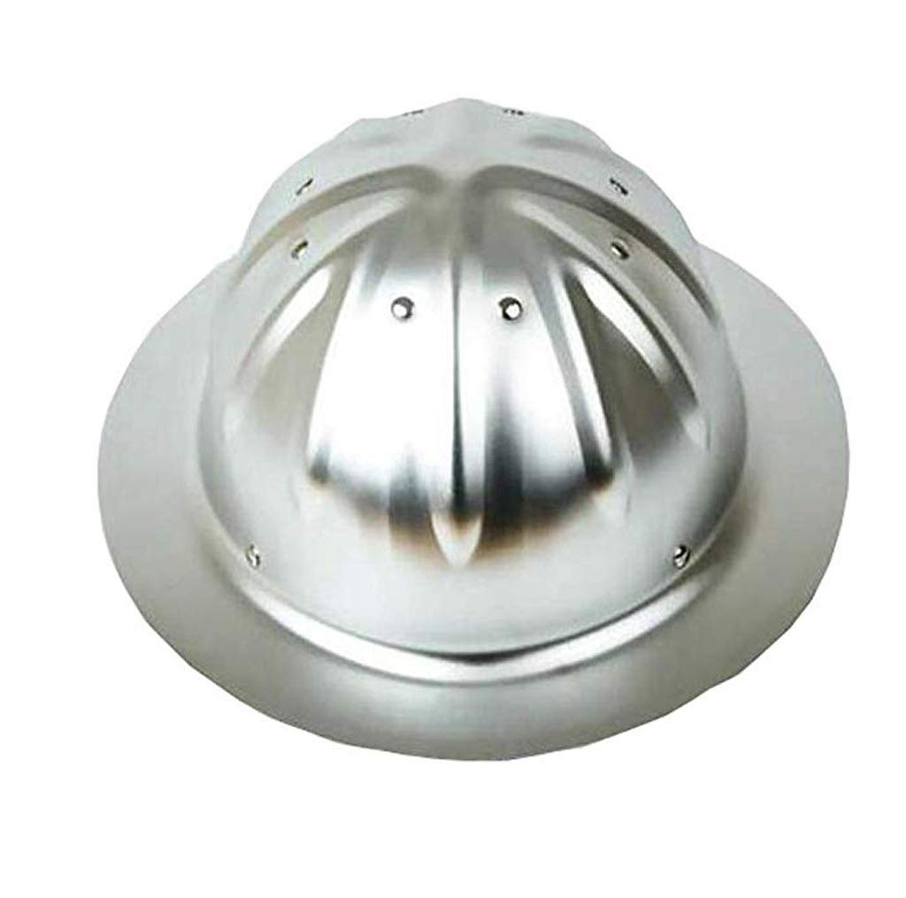Nwn Aluminum Helmets, Large Hats, Wide Side Hard Hat Sun Shade Construction Site Outdoor Helmet (Color : Aluminum Alloy)