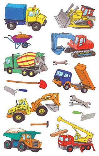 Avery Zweckform 53209 Kinder Sticker, Baumaschinen, 28 Aufkleber