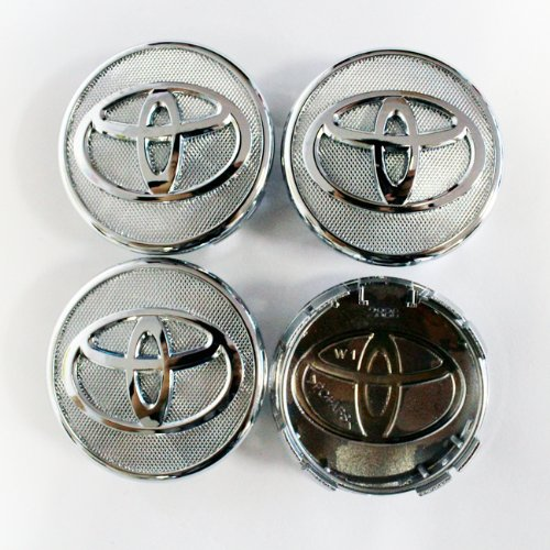 HAMMER Toyota 57mm Silver Frosted Wheel Center Hub Caps 4-pc Set Special Offer