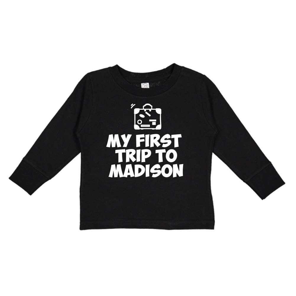 Toddler//Kids Long Sleeve T-Shirt My First Trip to Madison