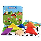 Studyset Children Puzzle Games Math Toys Wooden Learning Education 3D Puzzle Jigsaw Teaser Children Cubes Tangram
