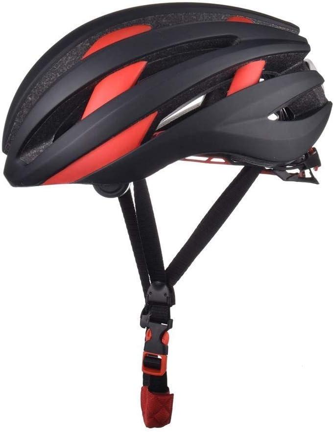 MEIEI LED Inteligente Bluetooth, Equipo de equitación Azul/Rojo Casco Mate, Equipo de Deportes al Aire Libre, Equipo de Bicicleta de Seguridad