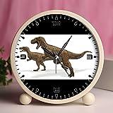 Alarm Clock, Bedroom Tabletop Retro Portable Clocks with Nightlight Custom designs Dinosaurs 15_Megalosaurus dinosaur