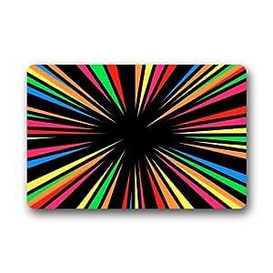 "2015Nueva Multicolor espirales Mandala Swirl Medallion Felpudo 23.6x15.7"""