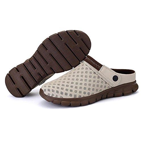 Sandali estive Antiscivolo Maglie Giardino da da Casual Zoccoli Esterno Spiaggia Mesh 5 Unisex Traspirante Colori Marrone Leggero da Scarpe Pantofole wFxR08nq