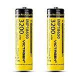 Victagen 18650 Rechargeable Battery 3200mAh 3.7V Lithium-ion Batteries with Storage Box, 2 pcs rechargeable battery cell Included Review