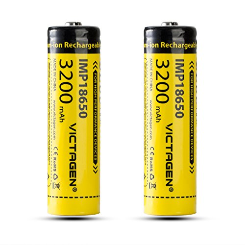 Pda Computer - Victagen 18650 Rechargeable Battery 3200mAh 3.7V Lithium-ion Batteries with Storage Box, 2 pcs rechargeable battery cell Included