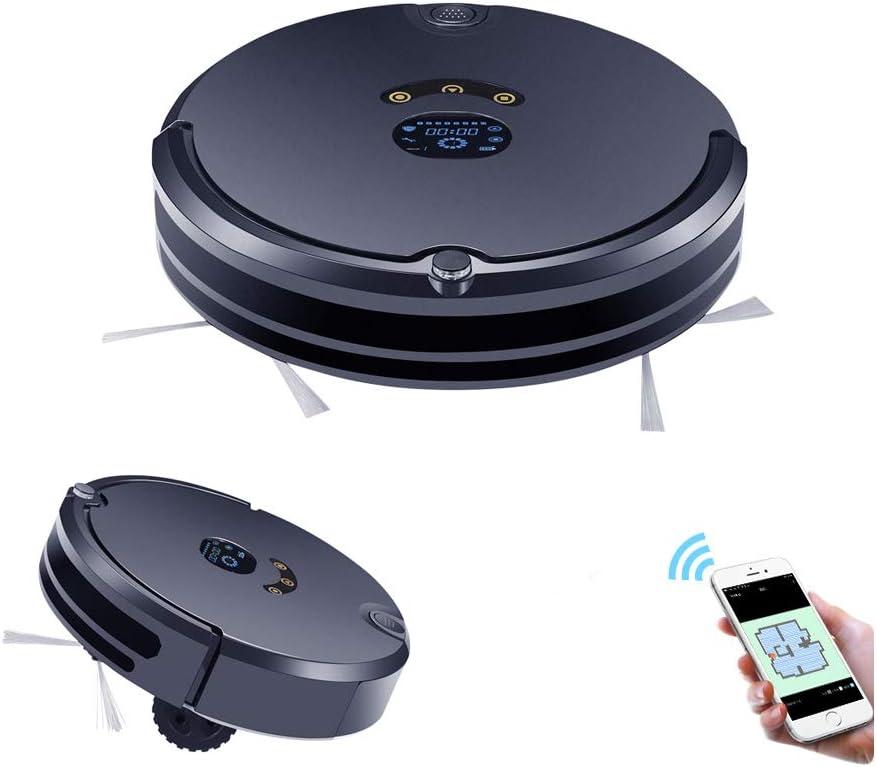Liuwenju Robot Aspirador, Navegación Inteligente, Programable, Control seco y Mojado Ruta de planificación automática Recargable para casa: Amazon.es: Hogar