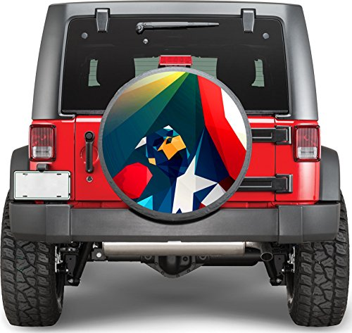 Superhero Captain America Sticker Full Color Spare Tire Cover Decal, Sticker Wheel Cover gc1674