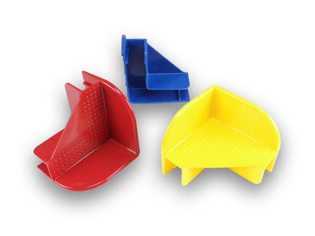 144 Pieces Blue Corner Set Plastic stacking Corner for pallet collars