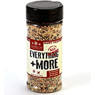 The Spice Lab Everything Bagel Seasoning Blend – 4.6 oz. Shaker Jar - Premium Gourmet PALEO and KETO Approved Spice - The Perfect Everything Seasoning -Blend of Sesame Seeds, Garlic & Onions
