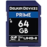 Delkin Devices 64GB Prime SDXC UHS-II (U3/V60) Memory Card
