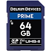 Delkin DDSDB190064G Devices 64GB Prime SDXC UHS-II (U3/V60) Memory Card