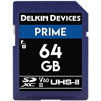 Amazon.com: Delkin 64GB SDXC 1900X UHS-I/UHS-II (U3/V60 ...