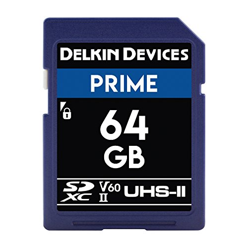 Delkin DDSDB190064G Devices 64GB Prime SDXC UHS-II (U3/V60) Memory Card Delkin Devices Secure Digital Card