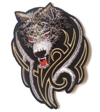 Wolf Embroidered Patch Appliques Iron-On - Gigi Australia
