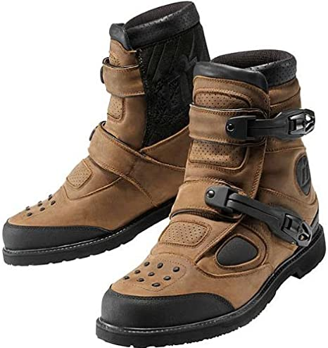 Icon Patrol 2 Riding Boots Waterproof Brown 8.5